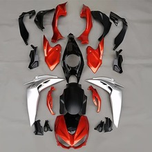 Alpha Rider Motorcycle Silver Orange Full Body Fairing Kit For Kawasaki Z1000 Z