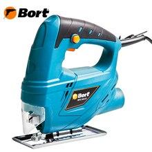 Лобзик электрический Bort BPS-505-P (Мощность 350 Вт, максимальная глубина пропила дерева 55 мм, регулировка угла пропила)