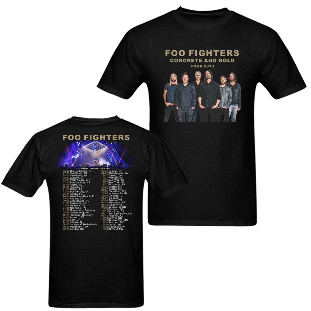 ea3f9fdc1 Foo Fighters Concrete and Gold Tour T Shirt 2018 Dates Tees Shirts Rock T-Shirt  camisa summer short sleeve Tops Men Women Kids