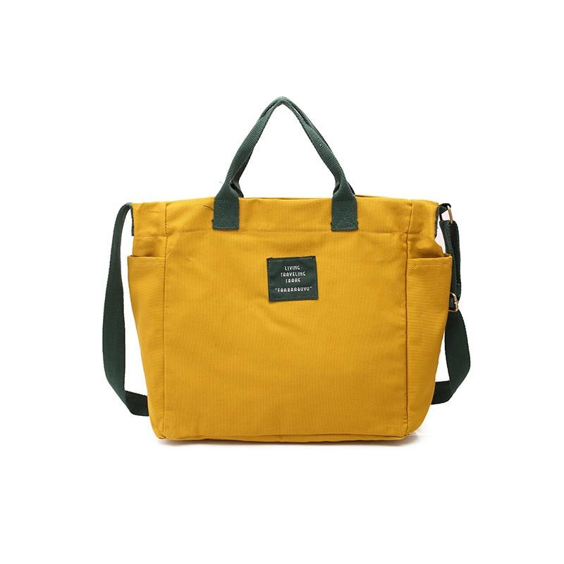 50d23a92f0a0 Original female art canvas bag Crossarm contrast-coloured portable shopping  bag Casual canvas one-shoulder hand bag