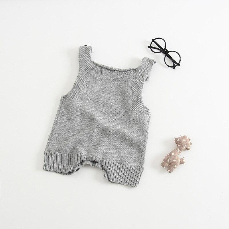 Nowa wiosna Antumn Rabbit Uszy Knitting Baby Romper Miękka - Odzież dla niemowląt - Zdjęcie 4