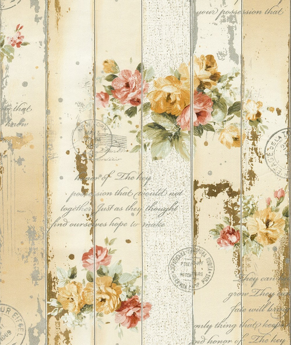Haokhome Vintage Floral Wallpaper Flower Contact Paper Wall Yellow