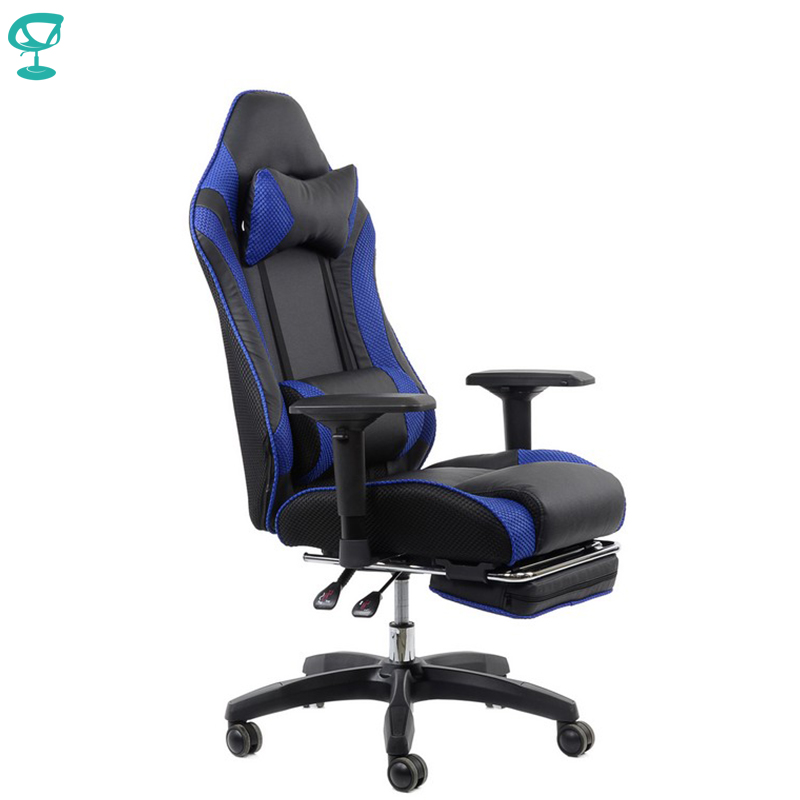 95145 Barneo K-141 Black Blue Line Gaming Chair Computer Chair Mesh Fabric High Back Plastic Armrests Free Shipping In Russia