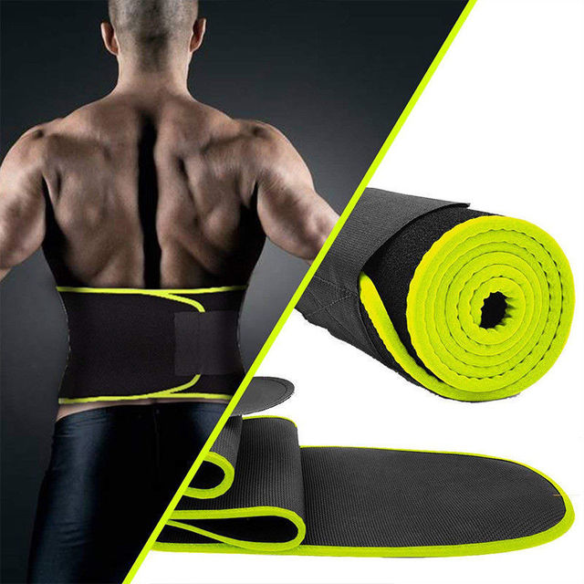 Professional Waist Trimmer Sports Gym Sweat Belt Premium Waist Support For Men And Women Universal Black Neoprene Fitness 3