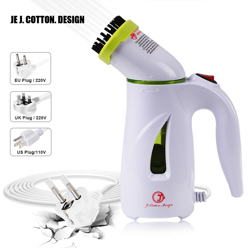 Portable Garment Steamer For Tøj Vertikal Steam Iron Stryge Med Børste Håndholdt Stof Steamers Clean Machine EU US UK Plug