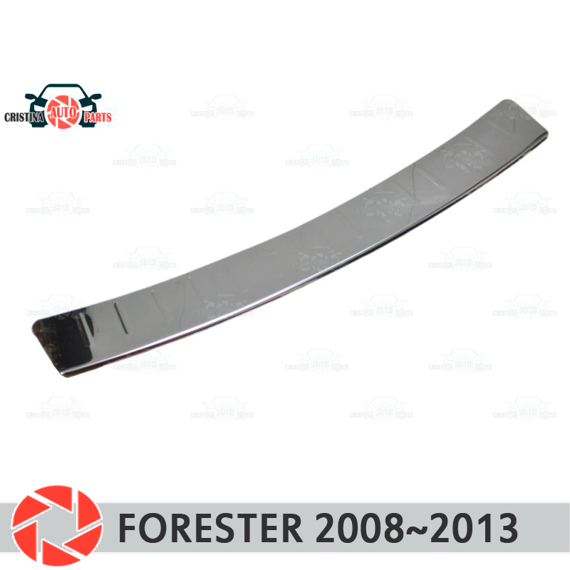 Plate cover rear bumper for Subaru Forester 2008-2013 guard protection plate car styling decoration accessories molding huier hand sew car steering wheel cover black leather for subaru forester 2013 2015 legacy 2013 2014 outback 2013 2014 xv 2013