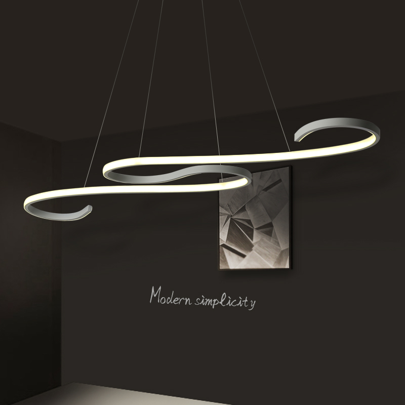 Современные светодиодные подвесные светильники черного/белого цвета для столовой, кухни, бара, акриловые подвесные светильники - 2