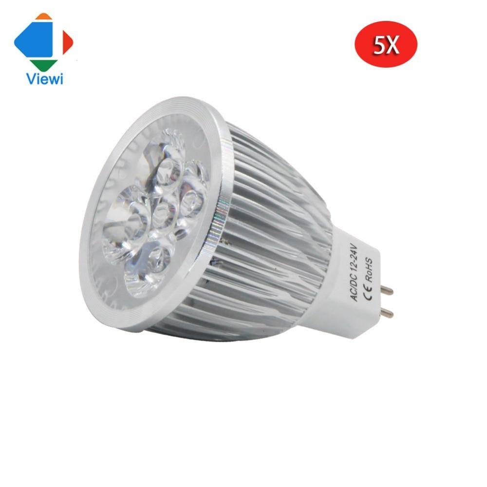 viewi 5x lampadas 12v led spotlight ac dc 12 to 24 volt 5w. Black Bedroom Furniture Sets. Home Design Ideas