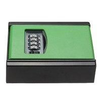 Safurance 4 Digit Combination Password Key Box Lock Safety Organizer Padlock Wall Mounted Home Security
