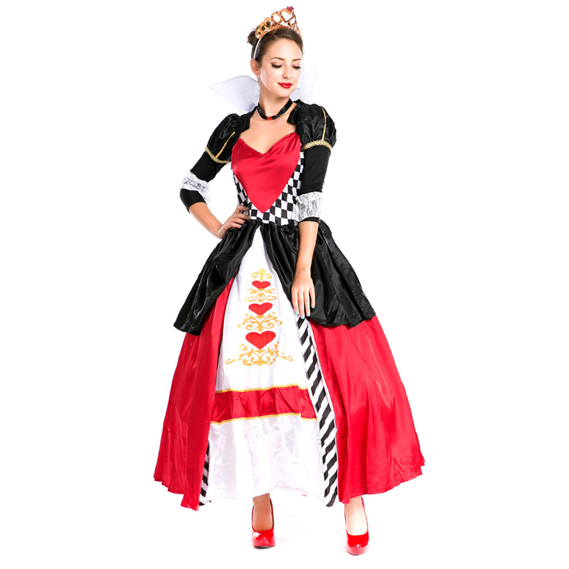 2018 Queen of England Cosplay Costume Adult Princess Dress Women s Carnival  Halloween Costume Prom Party Long Fancy Dresses-in Holidays Costumes from  ... d25b955e3
