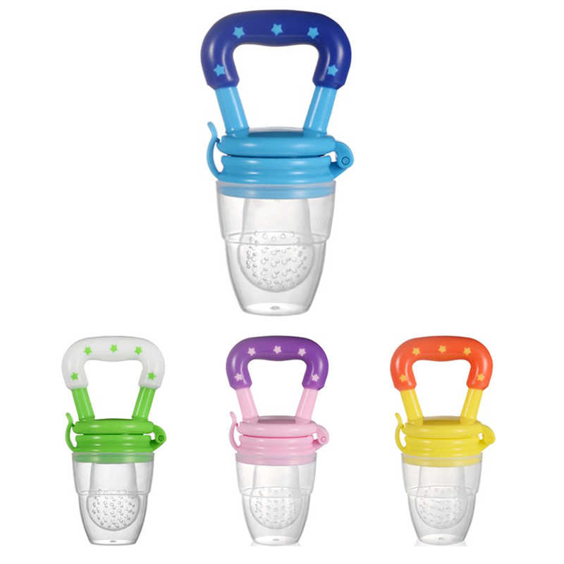 Красочные детские мешки для укусов фруктов и овощей, Детские Прорезыватели для зубов, соска-пустышка с силиконовой пряжкой T0330