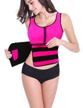 Das mulheres Camisa de Suor Do Corpo Shaper Perda de Peso Emagrecimento Colete de Neoprene Quente Trainer Cintura Tummy Controle Shapewear Ajustável