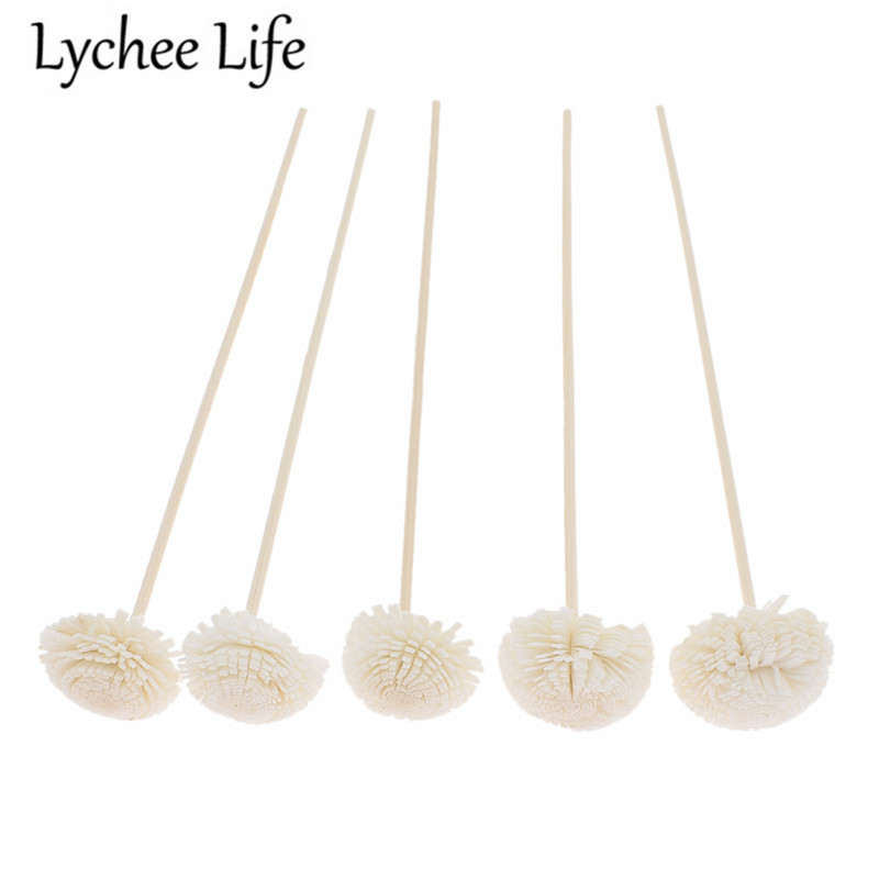 5pcs 3mm Reed Diffuser Replacement Stick Flower Shape Rattan Reed Oil Diffuser Refill Stick DIY Handmade Home Decor