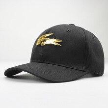 LDSLYJR, хлопковая кепка с металлическим крокодилом, бейсболка, кепка в стиле хип-хоп, регулируемая бейсболка, кепки для детей, мужчин и женщин
