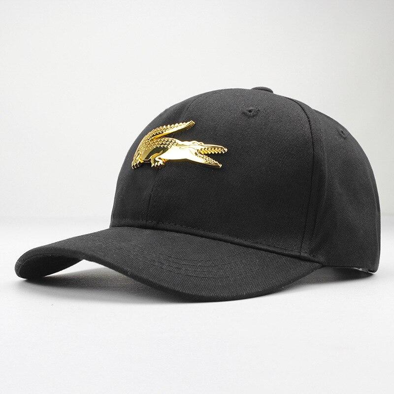 LDSLYJR Cotton Metal Crocodile Casquette Baseball Cap Hip-hop Cap Adjustable Snapback Hats For Kids Men Women