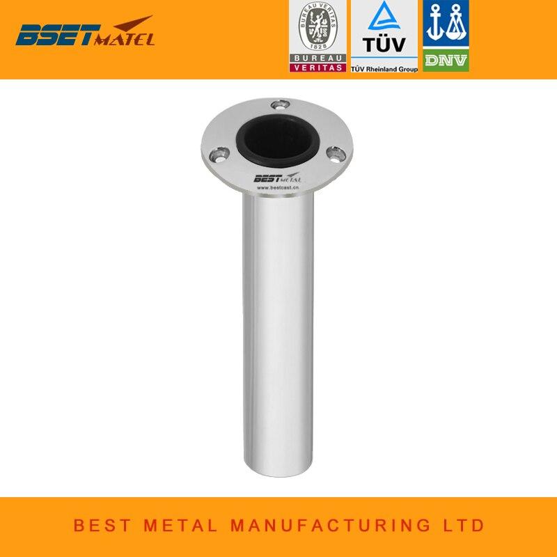 BEST METAL Mirror Polish Flush Mount 0 Degree stainless steel 316L round Flange fishing rod holder for boat fishing