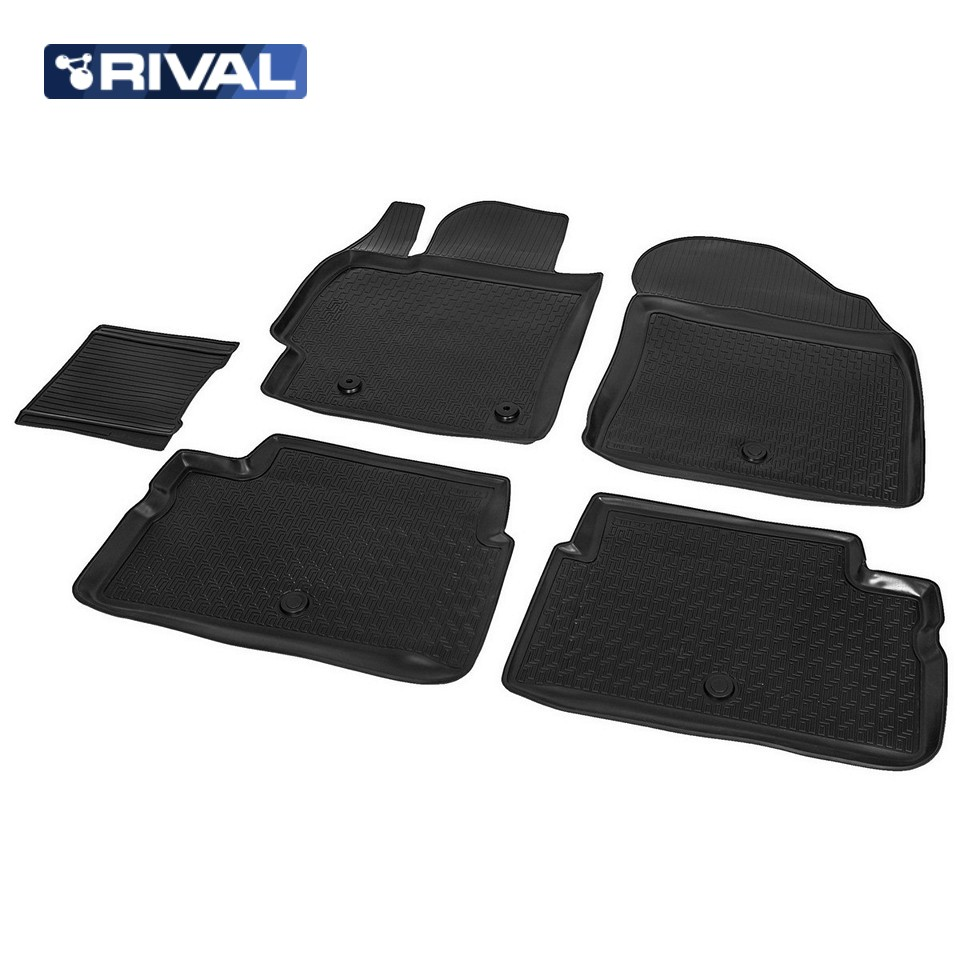 For Toyota Corolla E150 2007-2013 floor mats into saloon 5 pcs/set Rival 15702002 for toyota corolla e120 2002 2007 floor mats into saloon 4 pcs set element nlc4803210k