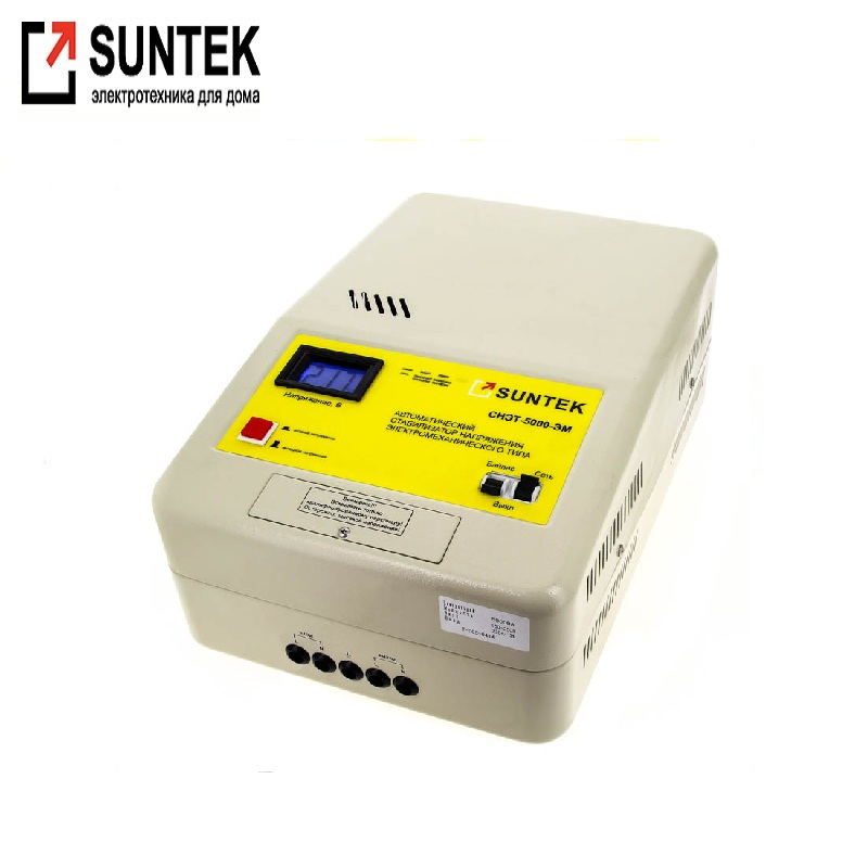 Voltage stabilizer SUNTEK 5000 VA EM Network voltage adjustment Automatic voltage regulator Power stab Active bypass generator avr se350 voltage regulator se350 voltage stabilizer voltage governor