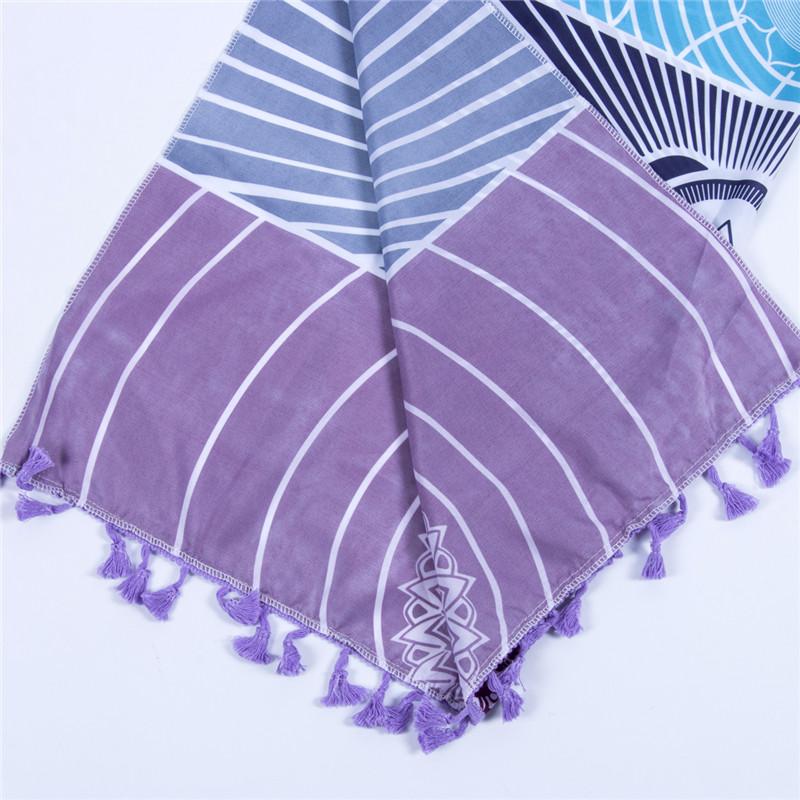 Dropship! Single Rainbow Chakra Tapestry Towel Carpet Mandala Boho Stripes Travel Yoga Mat Outdoor Mats 150x70cm/100x45cm 5