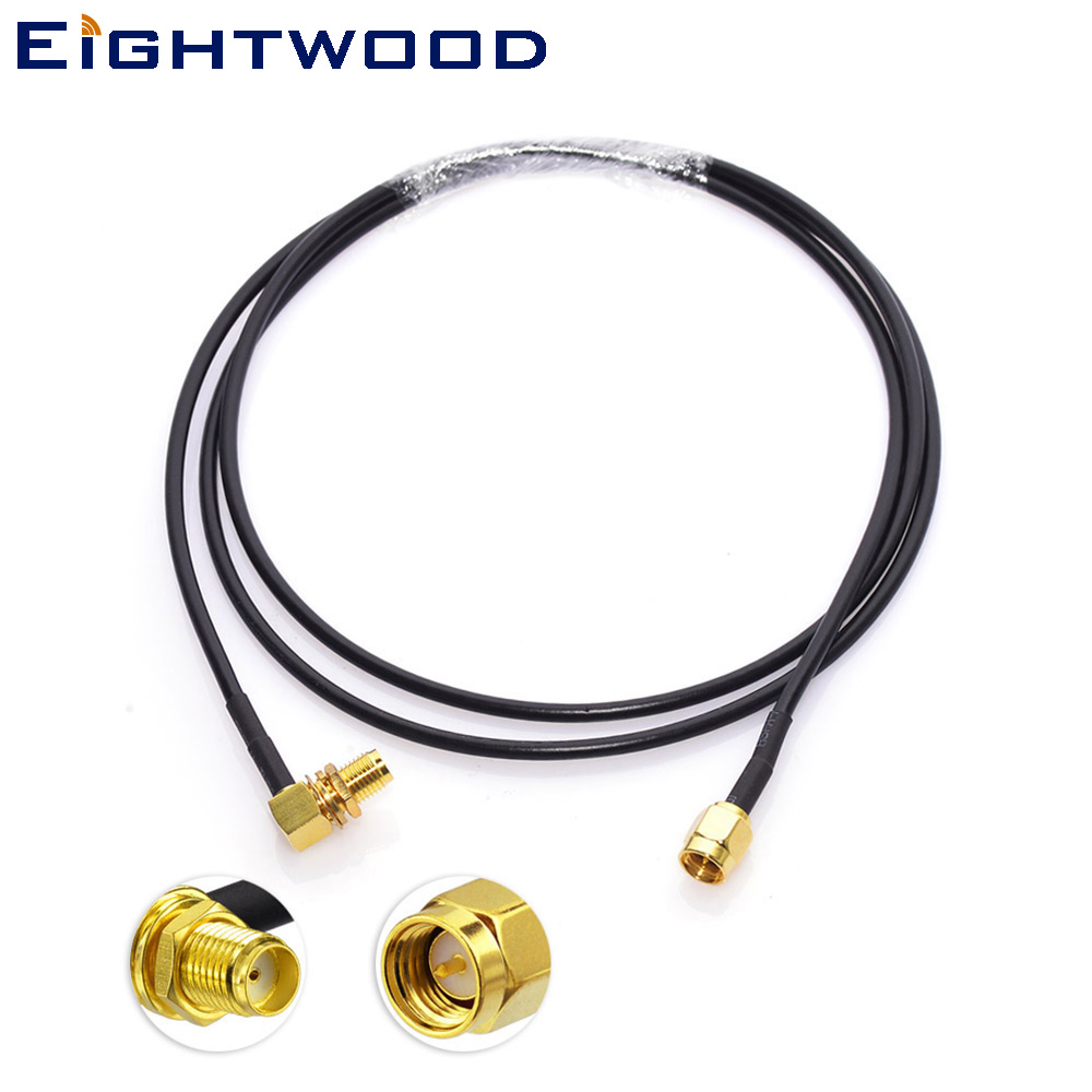 In car radio aerial extension cable 1M male DIN AM//FM to Fakra male AutoDAB