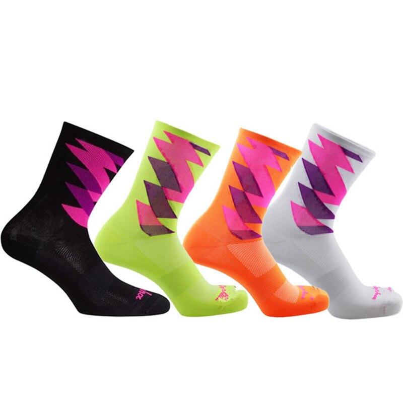 Bmambas Men Cycling Socks High Elasticity Soft Sports Socks Deodorization Breathable For Compression Socks