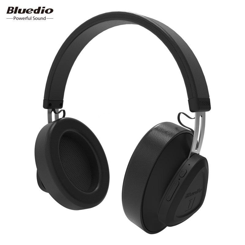 Bluedio TM monitor de estúdio fone de ouvido sem fio bluetooth fone de ouvido com microfone para a música e telefones suporte de controle de voz