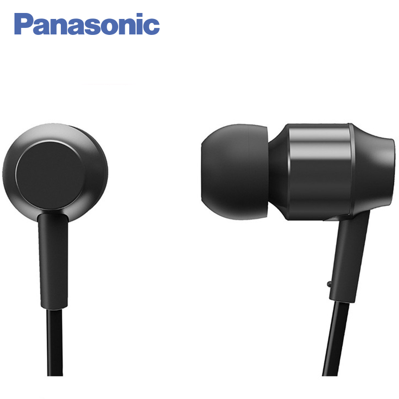 Panasonic RP-HDE3MGC-K In-Ear Earphone Stereo Sound Headphones Headset Music Earpieces with Microphone Earphones Super Bass panasonic rp tcm50e k in ear headphones microphone and remote control compatible with smartphone clear bass sound custom design