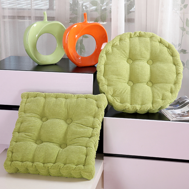 High Quality Thick 100 Corduroy Elastic Chair Cushions For Kitchen Chair Solid Color Seat Cushion Square Floor Cushions Memory in Cushion from Home Garden