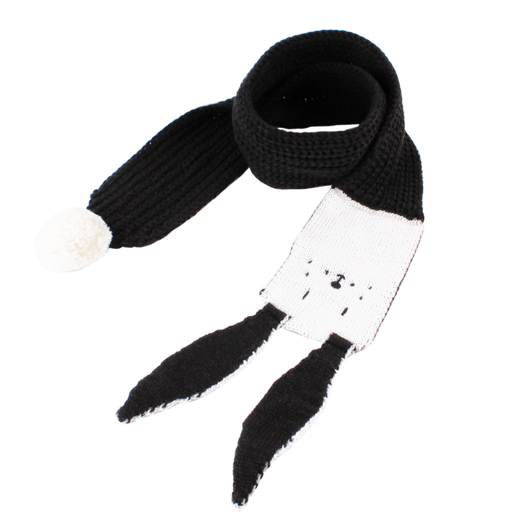 Winter Fashion Long Ear Cartoon Scarves Rabbit Wraps Shawl Warm Knitted Scarf