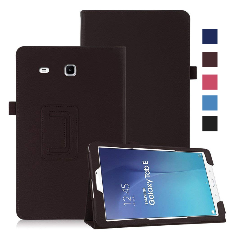 buy popular 1af3b 401b1 Ultrathin Smart PU Leather Cover For Samsung Galaxy Tab E 9.6 T560 T561  Tablet Case Tablet Slim Protective Shell