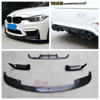 F30 TAIWAN AN M3 bodykit bumper carbon fiber P style front lip and diffuser 2012 up (1 set =4pcs) accessories accessories