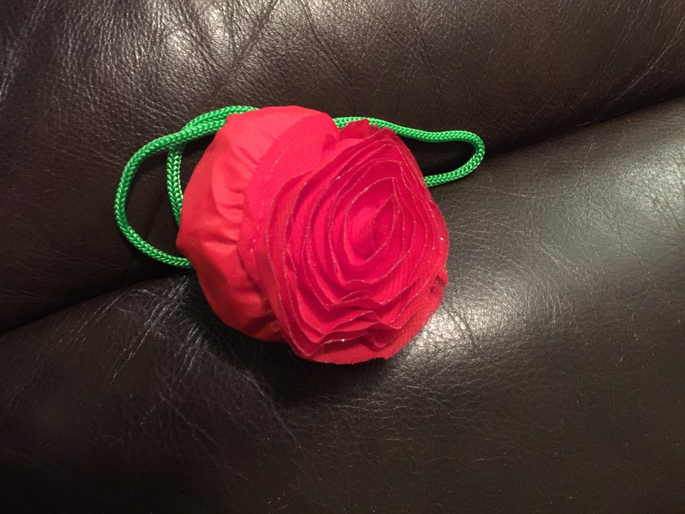 Environmental storage bag Rose flower Handbag Strawberry Foldable Shopping Bags Reusable Folding Grocery Nylon eco tote Bag photo review