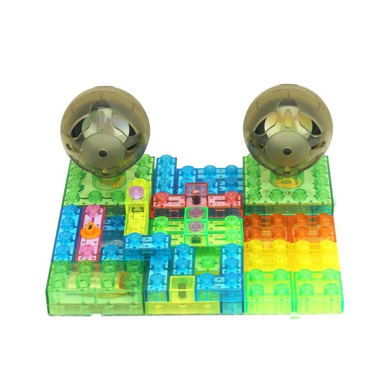 Kits de conception de blocs de construction électroniques pour enfants, découvrez le bloc éducatif de kit de circuit de projet de science électronique