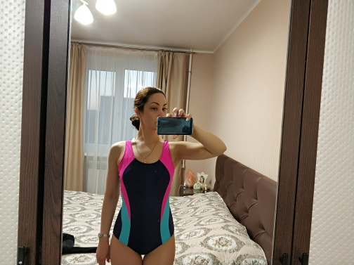 2019 Popular Sport Style One Piece Swimsuit Summer Padding Solid Patchwork Swimwear Women Fight color Bodysuits Swim maillot