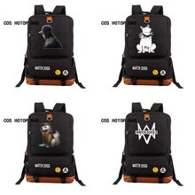 Game Watch Dogs 2 backpack machine school bag student book bag Notebook teenagers Men women's travel Laptop Bag 27 style(China)