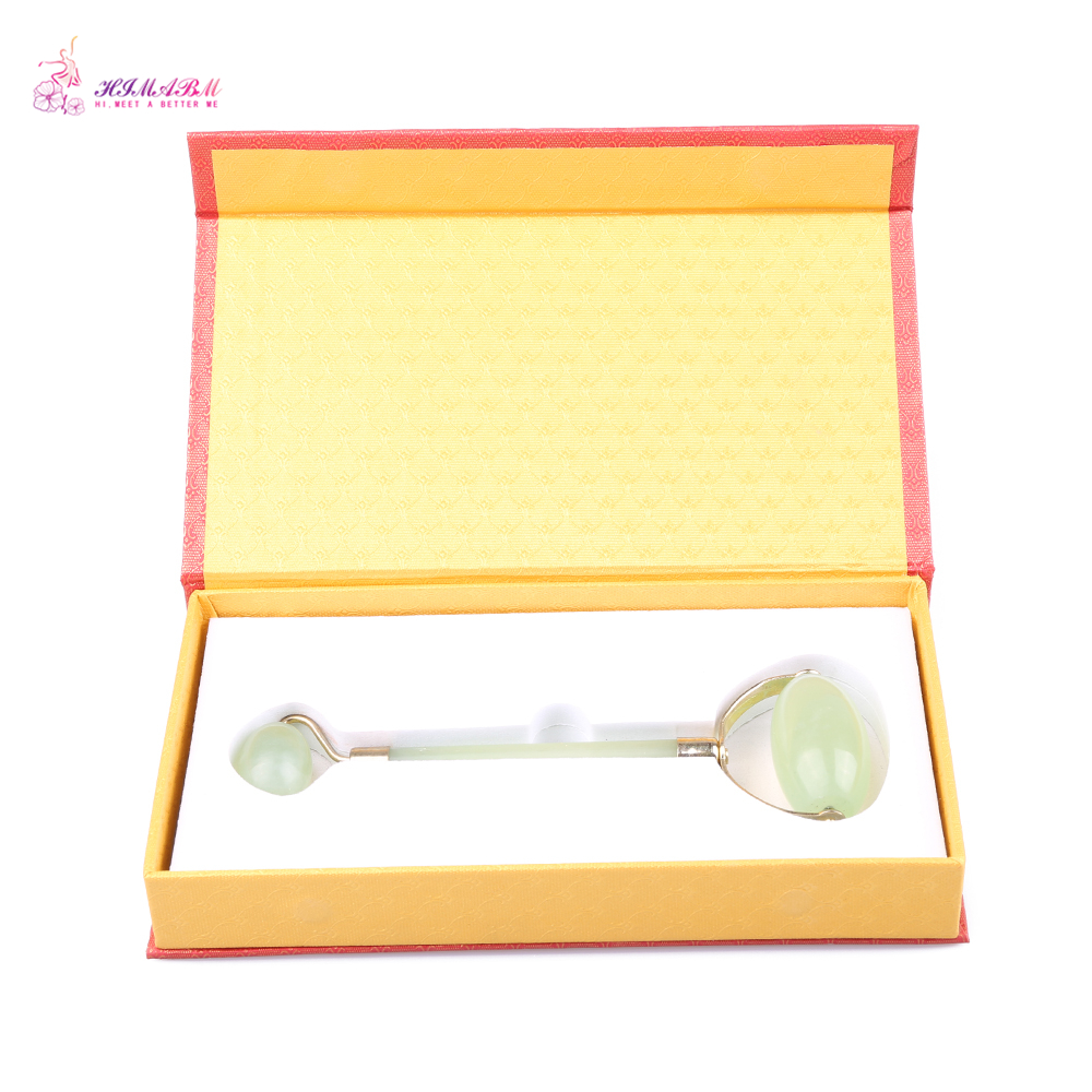 HIMABM Xiuyan jade Face Massage Roller Beauty Tool Facial Eye Neck Body Anti Ageing Therapy G in Massage Relaxation from Beauty Health