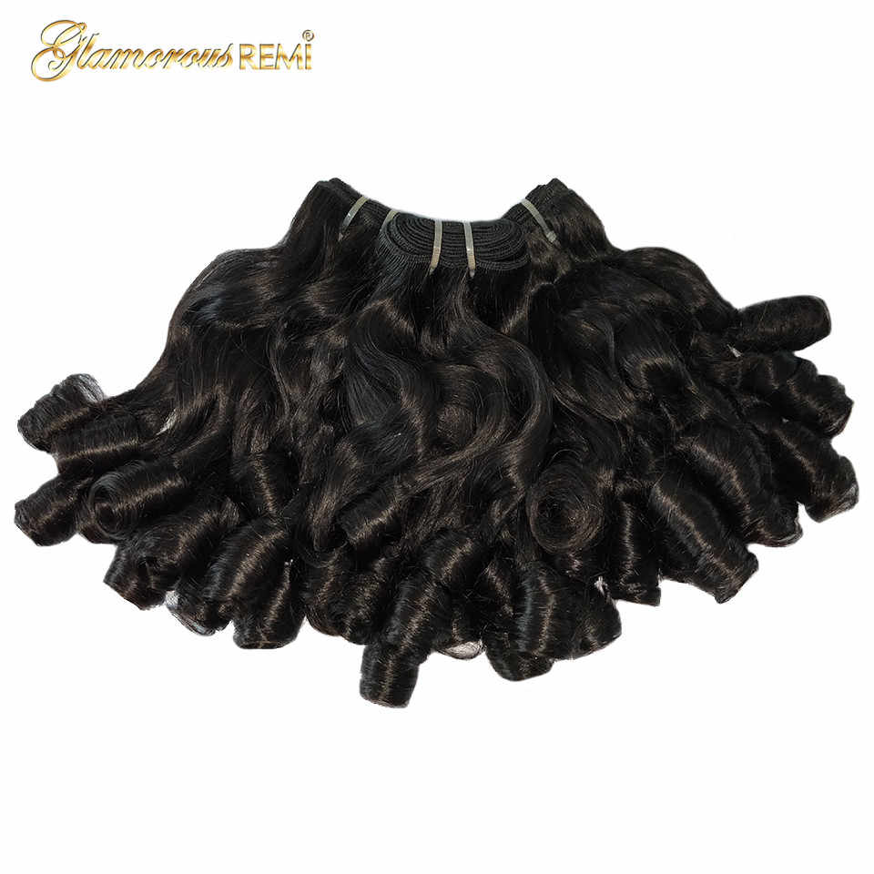 Double Drawn Human Hair Extensions 3 PCS Brazilian Human Hair Bundles Remy Loose Bouncy Curly Hair For Women Can Ship to Nigeria