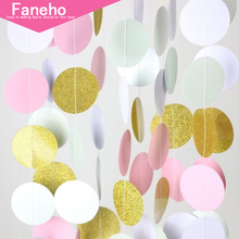 2m Bright Gold Silver Star Party Decoration Paper Garlands Wedding Screen Decor Birthday Party Supplies girls bedroom decor