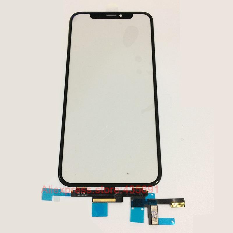 5 PCS Livraison DHL Panneau de L'écran Tactile Digitizer Verre Capteur Flex Remplacement Du Câble Pour l'iphone X 10 Tactile écran