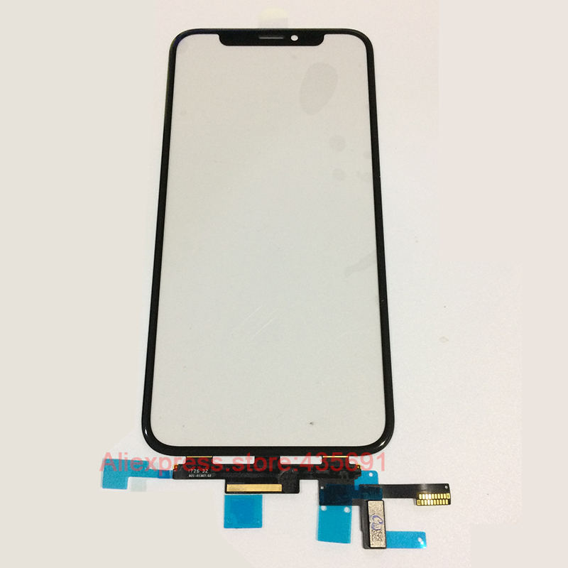 5PCS Free DHL Touch Screen Panel Digitizer Glass Sensor Flex Cable Replacement For iPhone X 10 Touch screen
