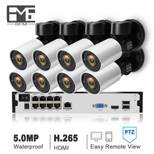 BFMore 4CH 8CH H.265 PTZ 5.0MP POE 4X Zoom 8CH NVR Kit CCTV System IP Camera Outdoor Video Security camera Set Night Vision