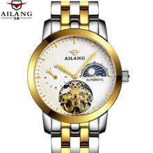 Guaranteed 12 month ! Tourbillon watches luxury men mechanical watches AILANG sapphire Waterproof 100m fashion men watch hours