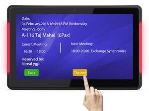 Image 3 - Pantalla de horario de sala de reuniones de código abierto de 13,3 pulgadas con barra LED (Android OSD 8,1, RK3288, wifi, ethernet con PoE)
