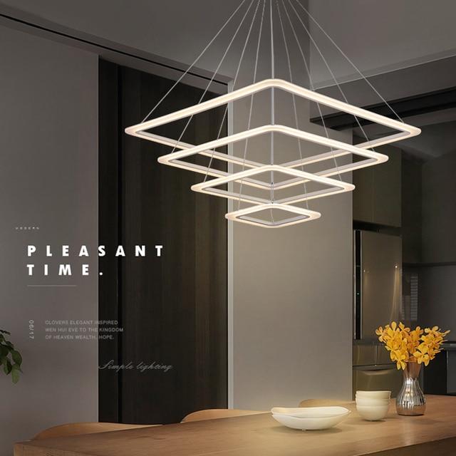 € 104.69 |Aliexpress.com: Comprar Envío Gratis luces colgantes led modernas  para comedor sala de estar cuadrado acrílico led lámpara colgante lamparas  ...