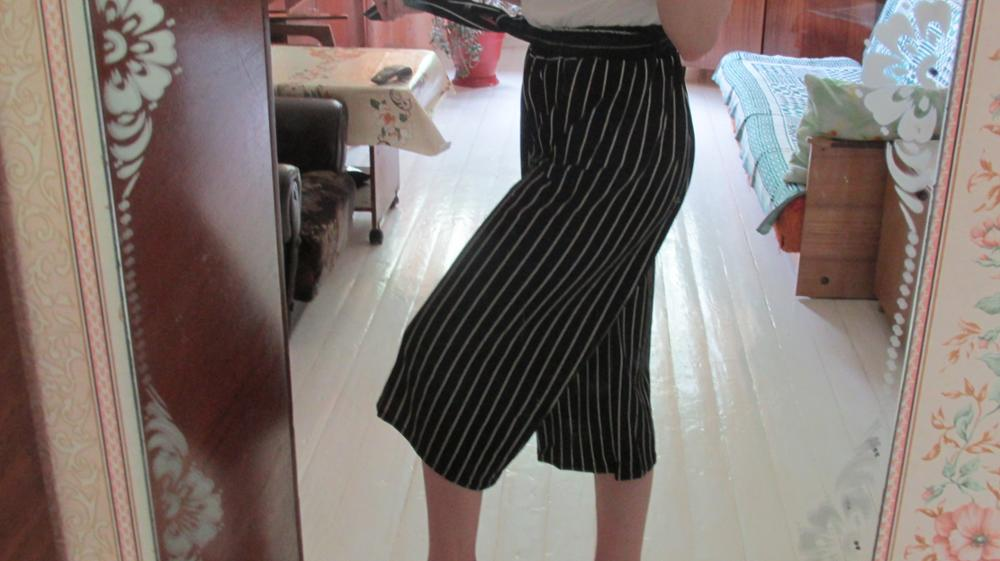 Striped Summer Loose Bell Bottoms photo review