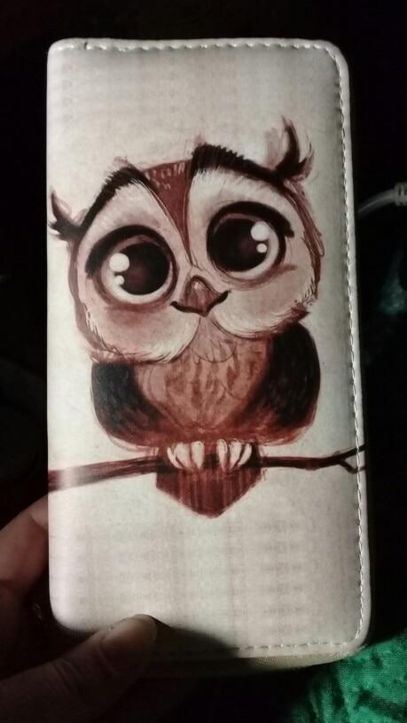 NIBESSER Women's Clutch Wallet Case Long Purse Print Cartoon Owl Long Zipper Purse For Girls Phone Bag Kawaii Card Holder photo review
