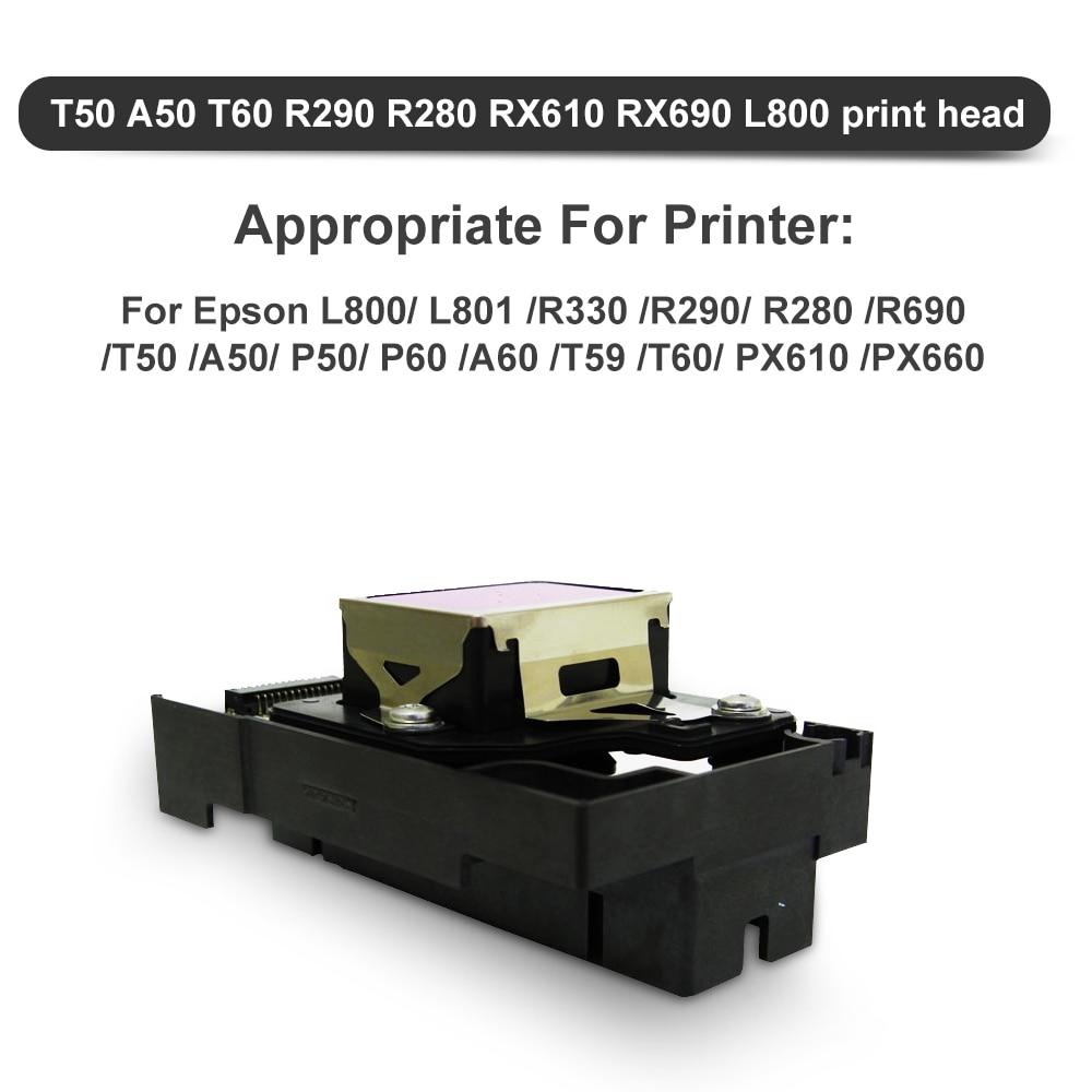 Starcolor F180000 Printhead For Epson Stylus Photo R280 R285 R290 R690 T50 T59 T60 P50 P60 L800 L801 Rx690 Tx650 Printer Office Electronics