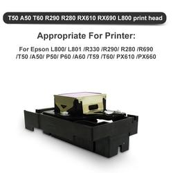 Oryginalny T50 głowica drukująca F180000 głowica drukująca Epson T50 A50 T60 R290 R280 RX610 L800 głowica drukująca Epson t50 L800 z amortyzatory