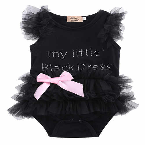 0-18M Newoborn Infant kid Baby Girl Bodysuit Cotton Sleeveless One-piece O-neck Bow Tulle Jumpsuit Playsuit Baby Clothes Outfits