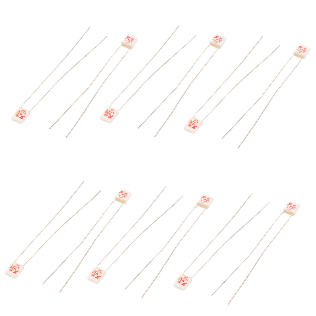 Uxcell 10 Pcs Ac 250v 2a 115 Celsius Square Circuit Cut Off 2 Pin Temperature Thermal Fuse In